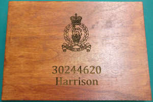 picture of engraved wooden box