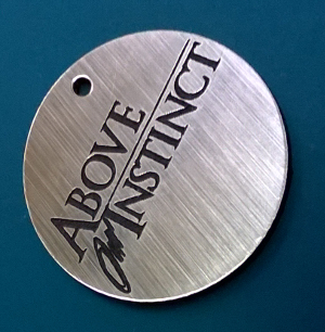 picture of engraved circular tag