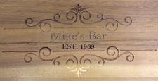 medium size picture of engraved bar stool