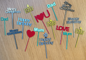 picture of engraved cake toppers