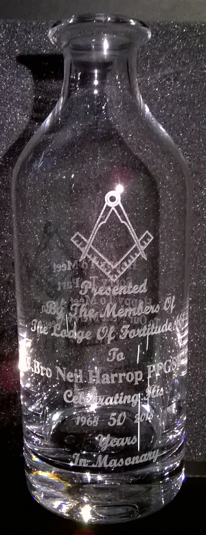 picture of engraved decanter