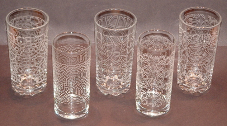 picture of 5 highball glasses