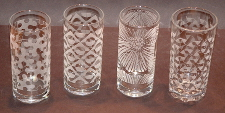 picture of 4 highball glasses