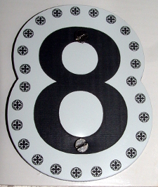 medium size picture of engraved door number sign
