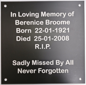 picture of engraved memorial plaque