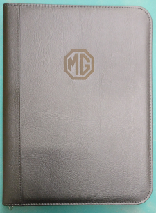 picture of engraved leather portfolio