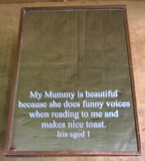 picture of engraved mirror