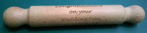 picture of engraved rolling pin