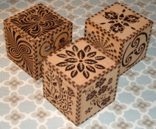 medium size picture of small wooden candle cube