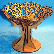 medium size picture of fretwork wooden bowl