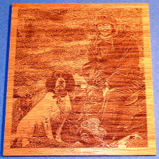 medium size picture of engraved wooden plaque