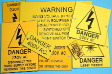 medium size picture of warning labels